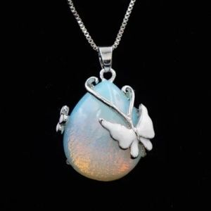 Jewelry - WGP Genuine Water Drop With Butterfly Necklace
